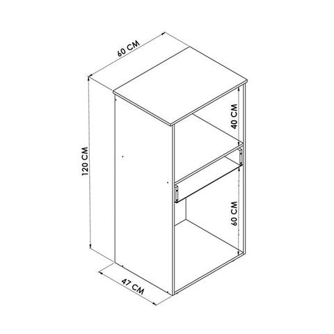 Imagem de Balcão Para Forno/Micro-ondas 02 Portas Branco BA1410 Hecol