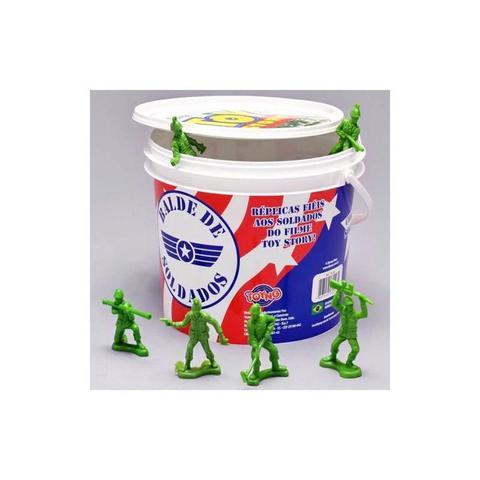 Imagem de Balde 60 Soldados - Bonecos Toy Story - Disney Pixar Toyng