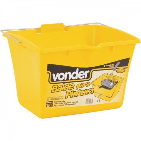 Imagem de Balde/caçamba para pintura 15 L amarelo Vonder Laranja