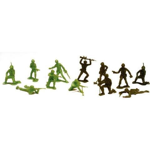 Imagem de Balde com Soldados Forças Armadas 60 Peças Brinquedo Gulliver