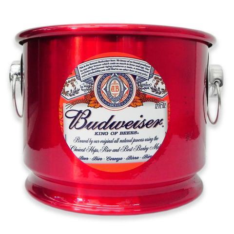 Imagem de Balde de Gelo Cerveja Budweiser Alumínio Vermelho 10L