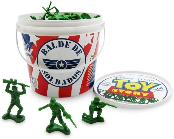 Imagem de Balde de Soldados Toy Story 60 peças Original .