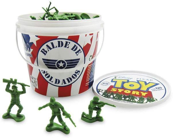 Imagem de Balde De Soldados Toy Story Disney 60 Peças - Toyng 26772