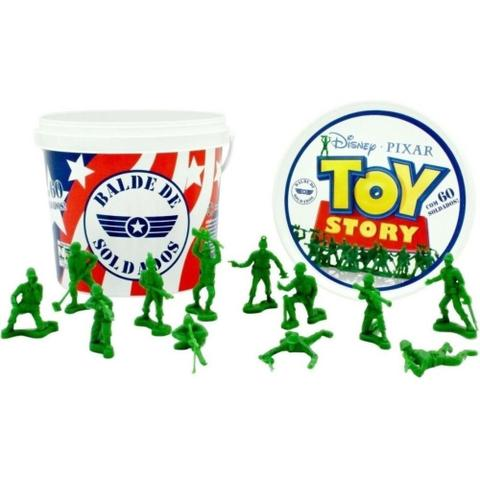 Imagem de Balde De Soldados Toy Story Disney 60 Peças - Toyng