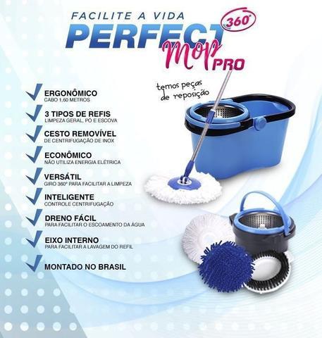 Imagem de Balde Perfect Mop Pro 360 Inox Com 3 Refis