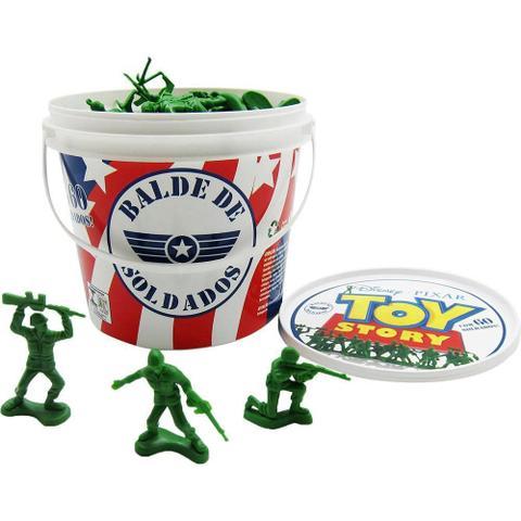 Imagem de Balde Soldados Toy Story 60 Soldadinhos Guerra