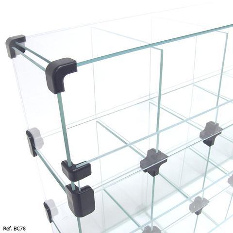 Imagem de Baleiro Comercial Modulado em Vidro - 0,70 x 0,45 x 0,15