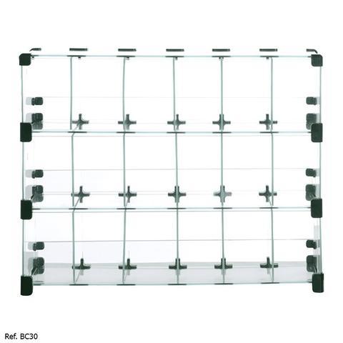Imagem de Baleiro Expositor Modulado em Vidro - 0,60 x 0,45 x0,15