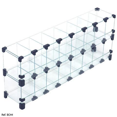 Imagem de Baleiro Expositor Modulado em Vidro - 0,80 x 0,30 x 0,15