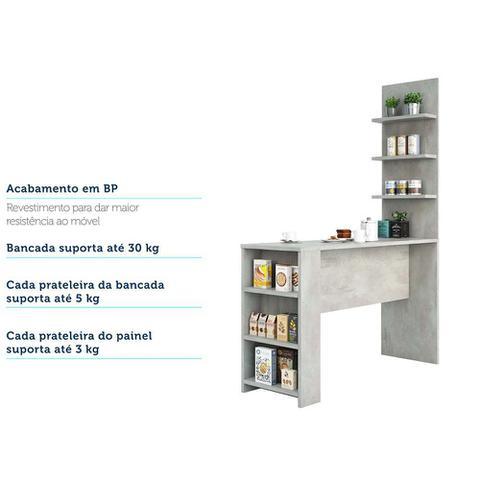Imagem de Bancada Mesa Gourmet para Cozinha com Painel Suprema Luciane Móveis