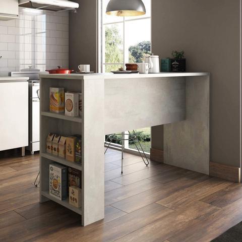 Imagem de Bancada para Cozinha 3 Prateleiras 150cm x 97cm Luciane Móveis