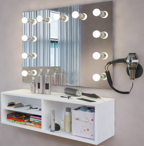 Imagem de Bancada para Salão de Beleza Organizador Branco