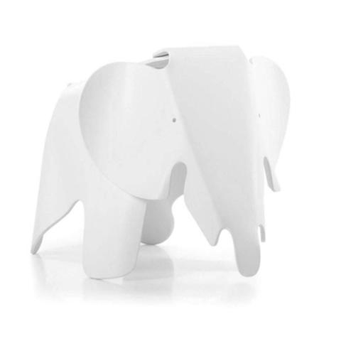 Imagem de Banco Byartdesign Elefante Kids Charles Eames Branco