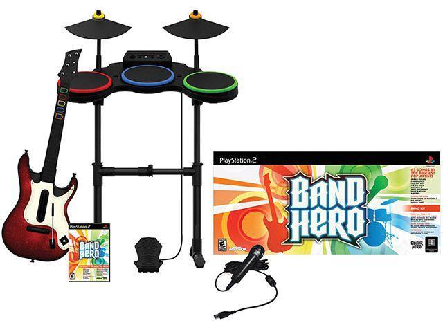 Imagem de Band Hero com Guitarra Microfone e Bateria