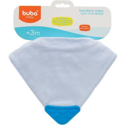 Imagem de Bandana Baby Azul com Mordedor Buba