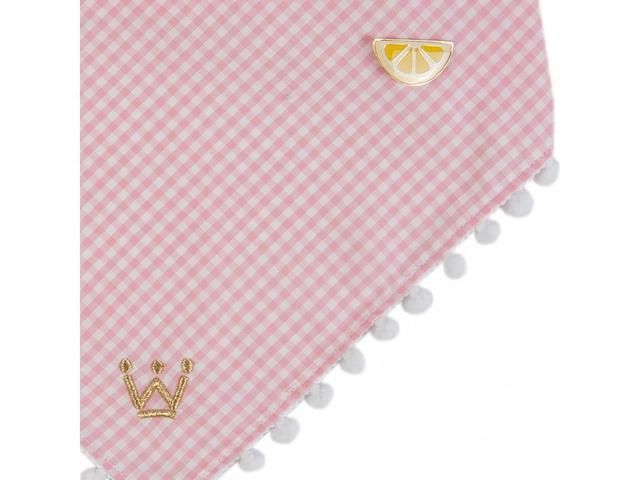 Imagem de Bandana Woof Classic Pic Nic Rosa com Pin Limão