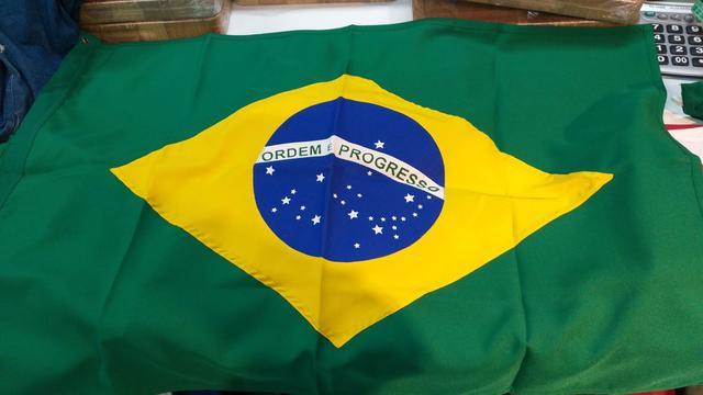 Imagem de Bandeira do brasil oficial dupla