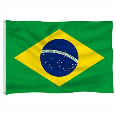 Imagem de Bandeira do Brasil Sublimada/Impressa, padrão 2P (0.90 x 1.28m) - Frente e Verso