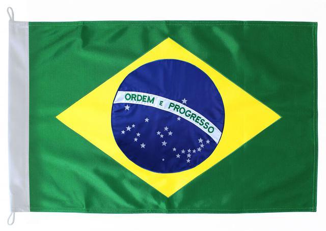 Imagem de Bandeira do Brasil Tecido 90x145cm - Kit c/6 Und.
