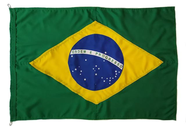 Imagem de Bandeira oficial do Brasil 90x129cm Poliéster dupla face