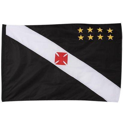 Imagem de Bandeira Torcedor Oficial - 2 Panos 1,20 X 0,80 Cm. Vasco