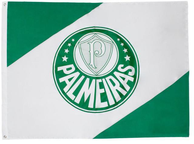 Imagem de Bandeiras Oficiais - 2 Panos1,30 X 0,90 Cm. Palmeiras