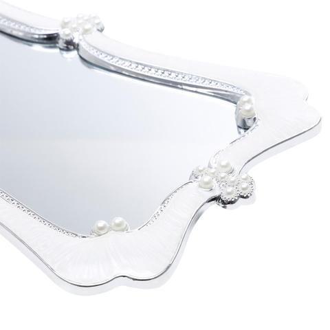 Imagem de Bandeja Com Fundo Espelhado 15x30cm Plástico Pearl Prestige