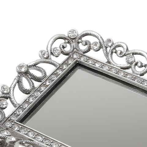 Imagem de Bandeja Com Fundo Espelhado Zamac 13.5x10.3cm Treasure Prestige