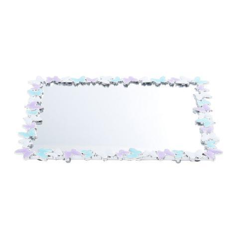 Imagem de Bandeja de Plástico com Fundo Espelhado 20X25cm Buterfly - Marca: Prestige
