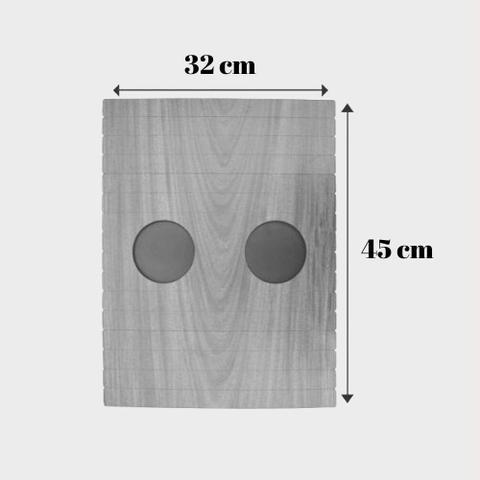 Imagem de Bandeja Porta Copo para Sofá Kit com 4 Tradicionais Tabaco