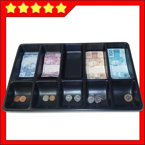 Imagem de bandeja porta dinheiro notas cédulas moedas divisor