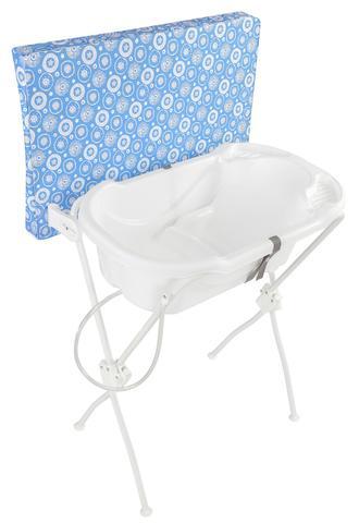 Imagem de Banheira Bebê com Trocador Infantil Floripa Azul - Tutti Baby
