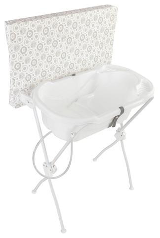 Imagem de Banheira Bebê com Trocador Infantil Floripa Branca - Tutti Baby
