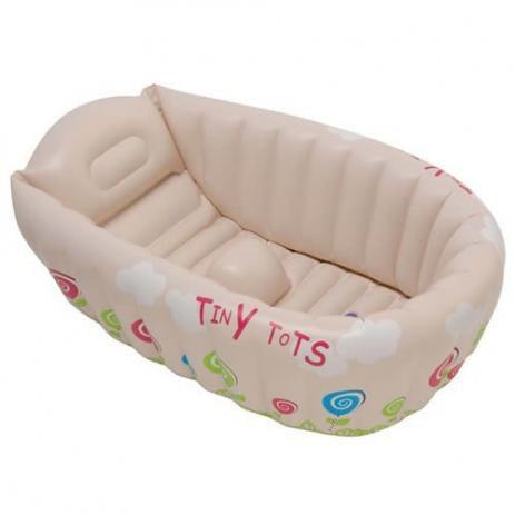 Imagem de Banheira Inflável Para Bebê Com Indicador De Temperatura Mor