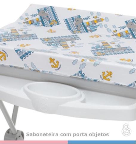Imagem de Banheira Luxo Rígida Branco com Trocador - Galzerano