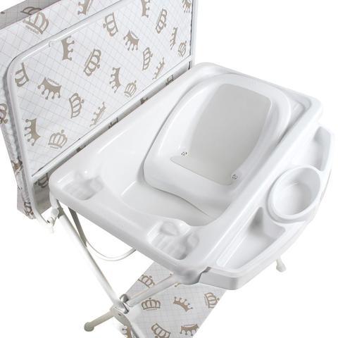 Imagem de Banheira para Bebê com Assento Galzerano Luxo  Branca