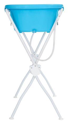 Imagem de Banheira para Bebê Infantil com Suporte Azul Ergonômica Tutti Baby