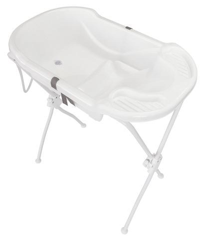 Imagem de Banheira para Bebê Infantil com Suporte Branca Ergonômica Tutti Baby