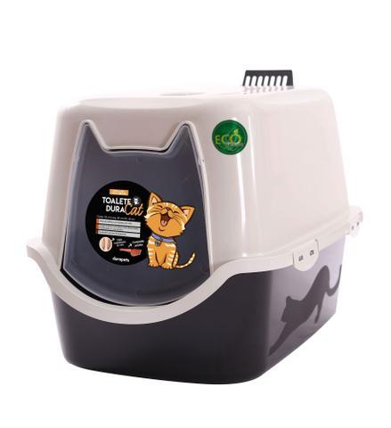 Imagem de Banheiro Para Gatos Toalete Sanitário Wc Duracats cor preta Durapets