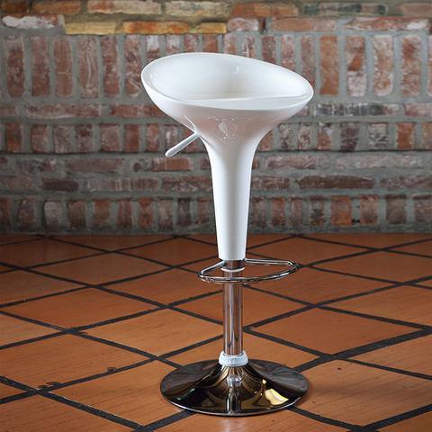 Imagem de Banqueta Giratória Cozinha Bar Abs Encosto Lótus Branca Mor