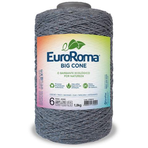 Imagem de Barbante Big Cone Colorido nº6 com 1,8kg EuroRoma - Cor 6000 Jeans