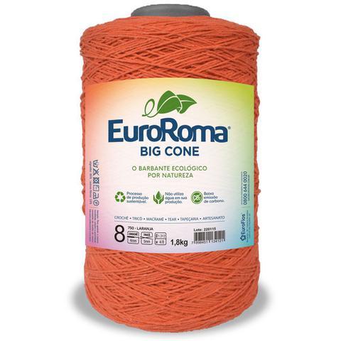 Imagem de Barbante Big Cone Colorido nº8 com 1,8kg EuroRoma - Cor 750 Laranja