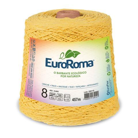 Imagem de Barbante Colorido nº8 c/ 600g EuroRoma - Amarelo Ouro