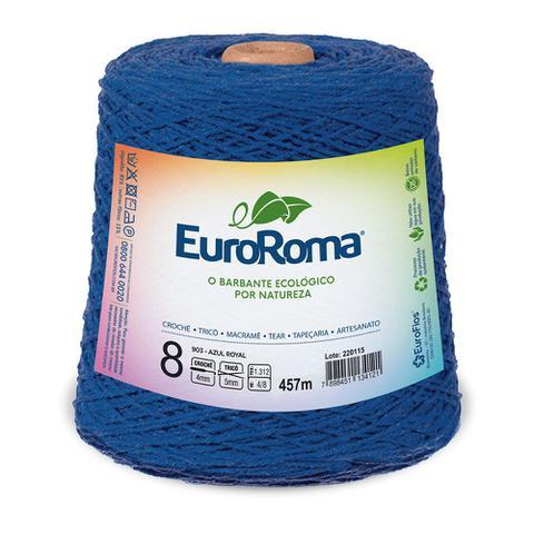 Imagem de Barbante Colorido nº8 c/ 600g EuroRoma - Azul Royal