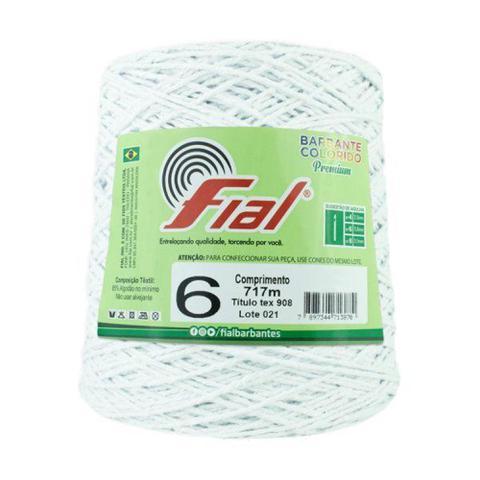 Imagem de Barbante Crochê Fial Colorido 700g - N. 6 - 03 - Branco - Barbantes Fial