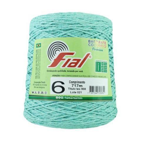 Imagem de Barbante Crochê Fial Colorido 700g - N. 6 - 43 - Verde Claro - Barbantes Fial