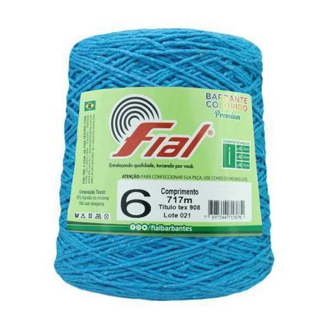 Imagem de Barbante Crochê Fial Colorido 700g - N. 6 -  56 - Azul Turquesa