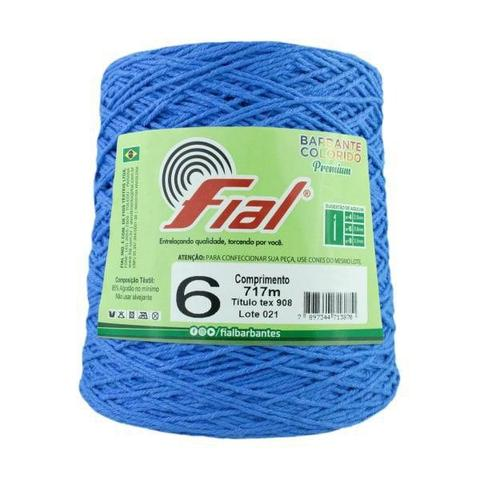 Imagem de Barbante Crochê Fial Colorido 700g - N. 6 - 59 - Azul Royal