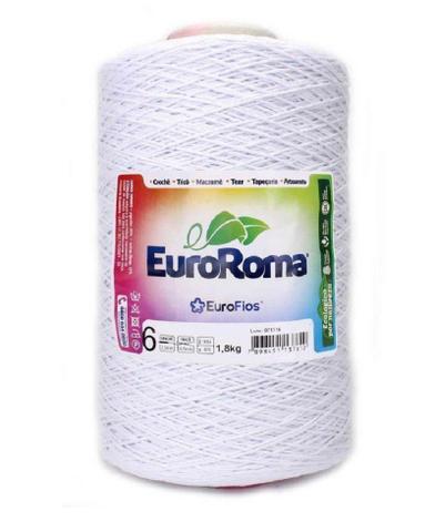Imagem de Barbante Euroroma Colorido N6 - 1,8 Kg  Branco