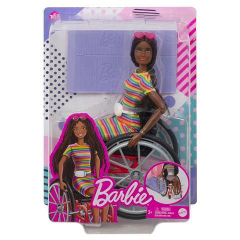 Imagem de Barbie Fashionista Cadeira de Rodas Cabelo Cacheado - Mattel